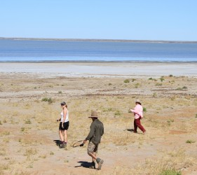 On Lake Eyre