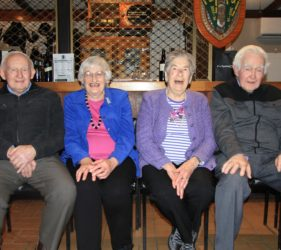 Jim, Eileen, Clare & Jack at Jim's 90th Birthday at Gumeracha Football Club
