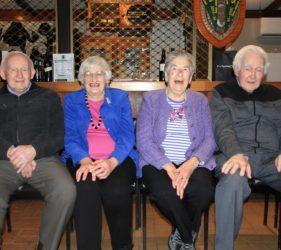 Jim, Eileen, Clare & Jack at Jim's 90th Birthday at Gumeracha Football Club