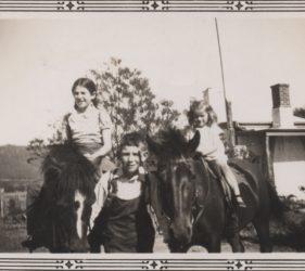 1940 Clare, Peter & Eileen Abbott at Melrose