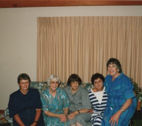 Joan, Nancy, Margaret, Judy & Clare